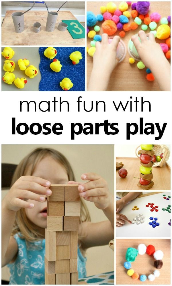 Math and Loose Parts Play | ALL THINGS PRESCHOOL | Pinterest