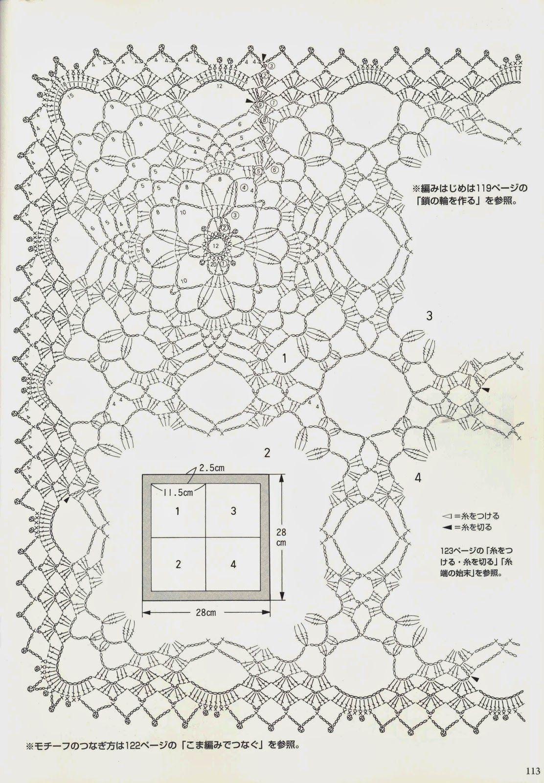 Kira Scheme Crochet Napkin