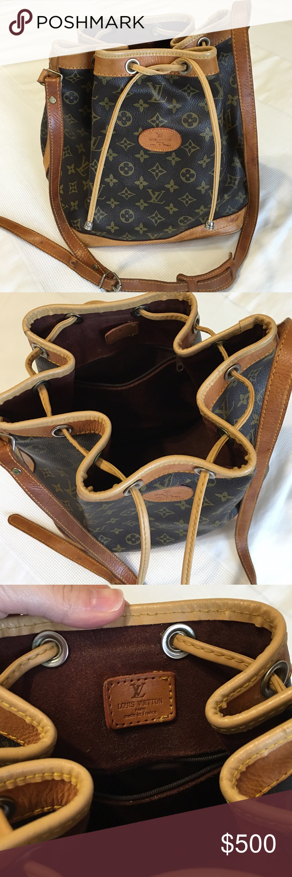 Vintage Louis Vuitton Drawstring Bucket Bag Not Sure If It S From
