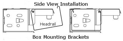 Box Brackets For 2 Wood Faux Wood Or Venetian Blinds Installation Example Mini Blinds Blind Repair Mounting Brackets