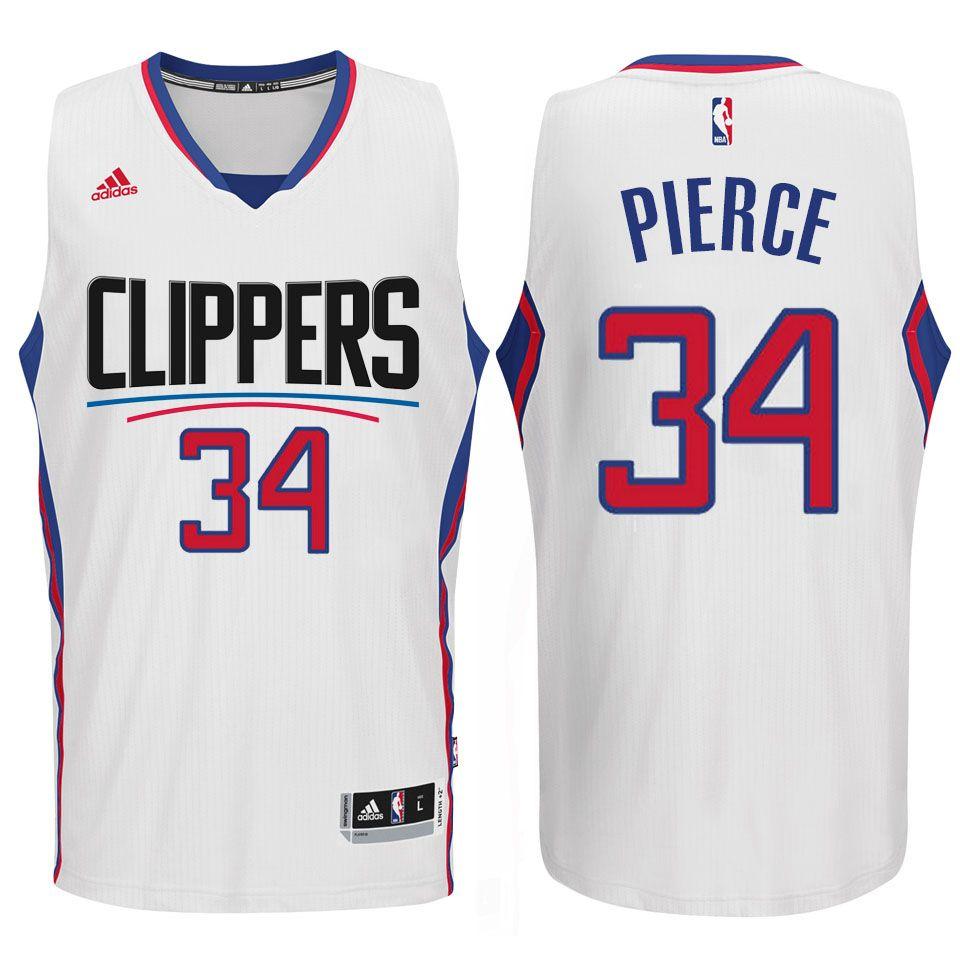 2015 Clippers New Season Logo Paul Pierce Blue Jersey