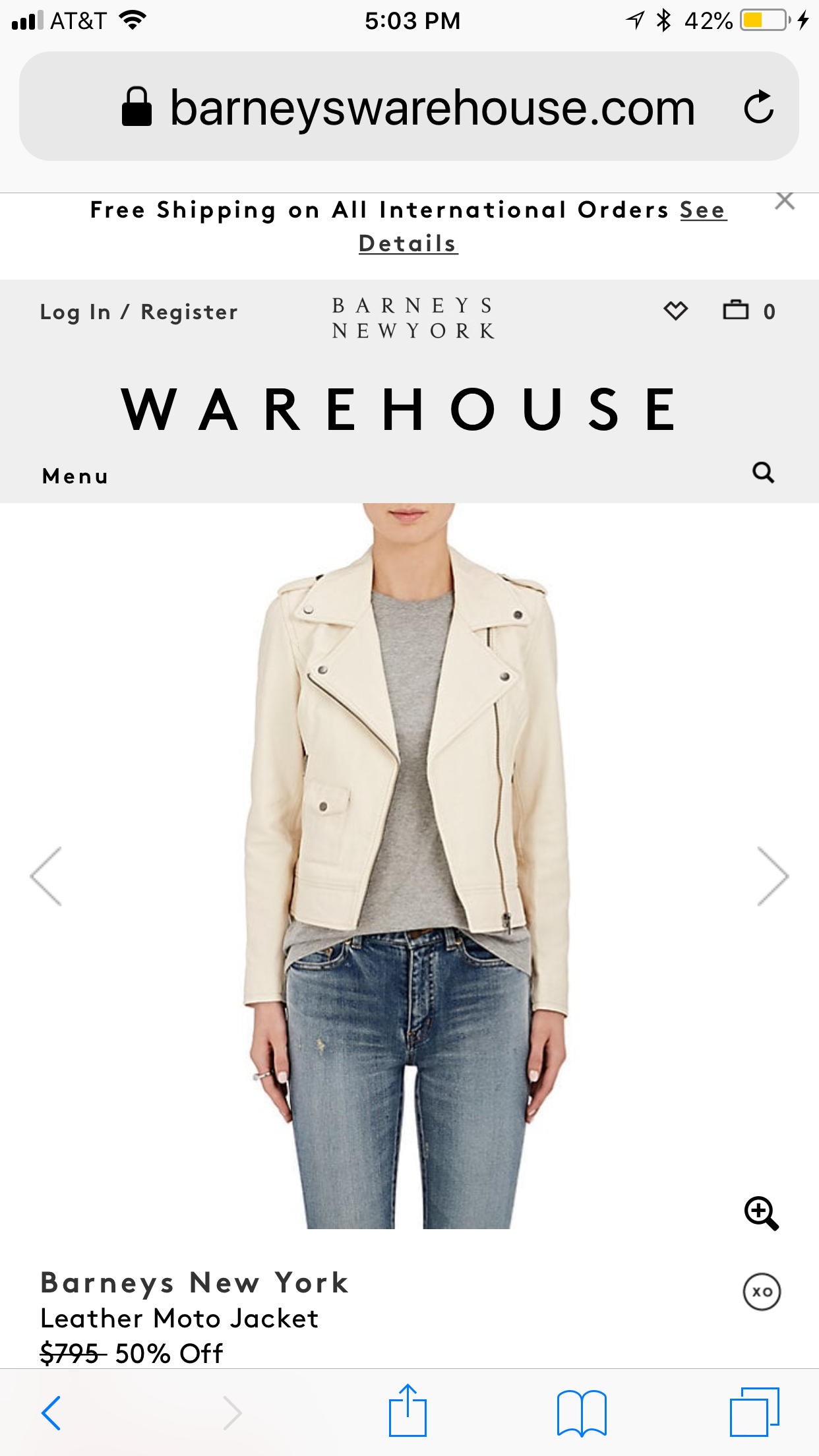 Cream leather biker jacket Jackets, Leather moto jacket