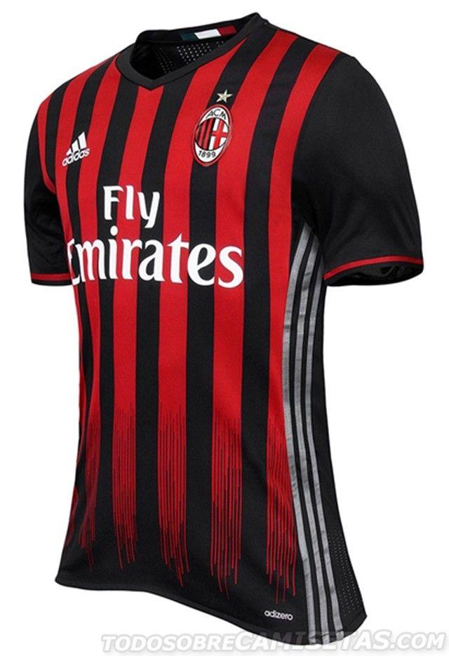 Official Ac Milan Adidas 2016 17 Home Kit Camisas De Futebol Manchester United Manchester