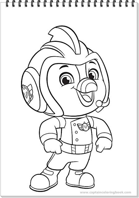 Top wing coloring-New Series   Cartoon coloring pages, Paw ...