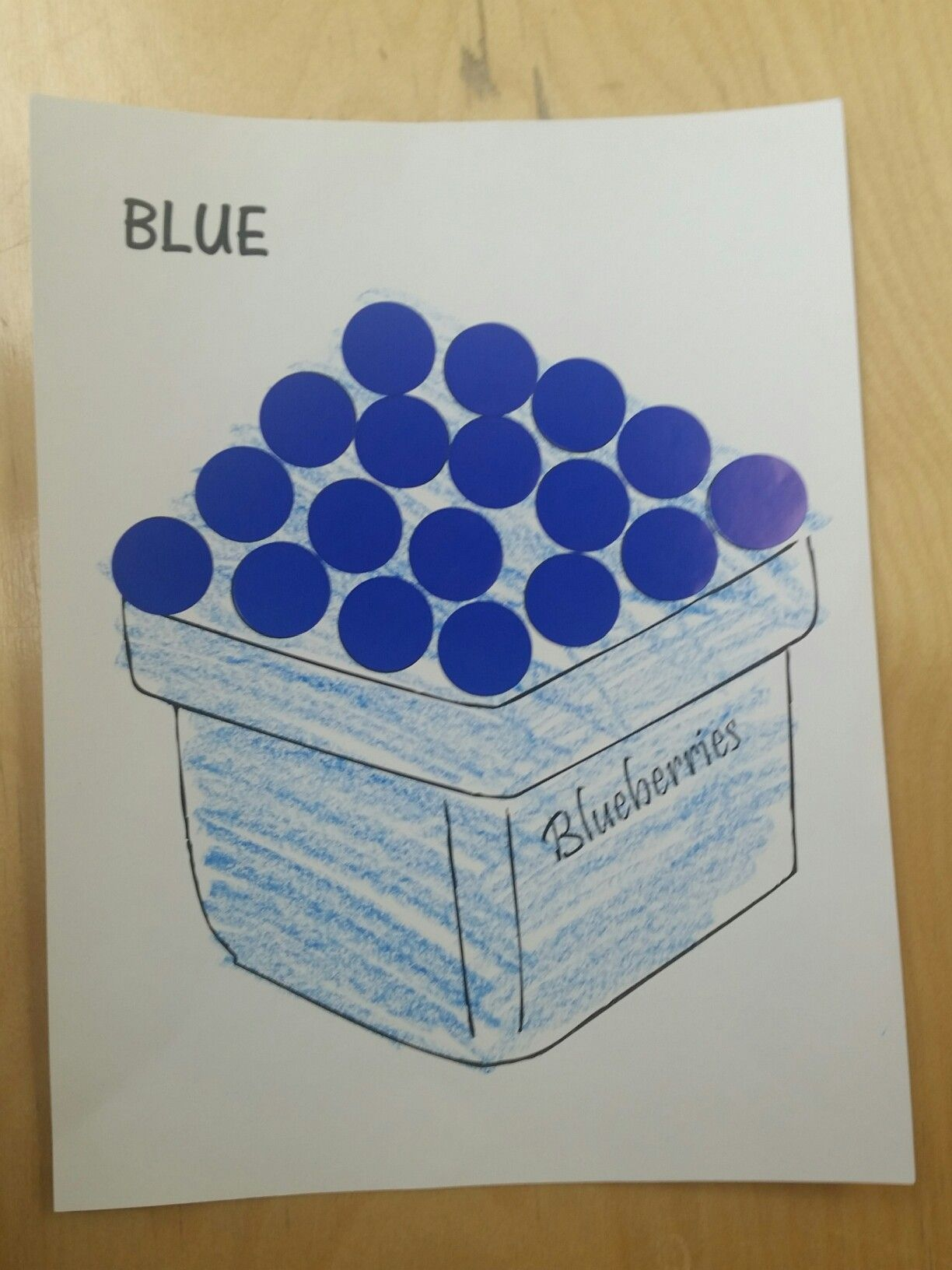 Color Blue Blueberries Sticker Craft For Nursery