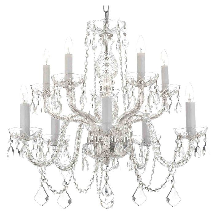 Harrison Lane 10 Light Crystal Chandelier Amp Reviews Wayfair Decoration Luminaire Deco Salon