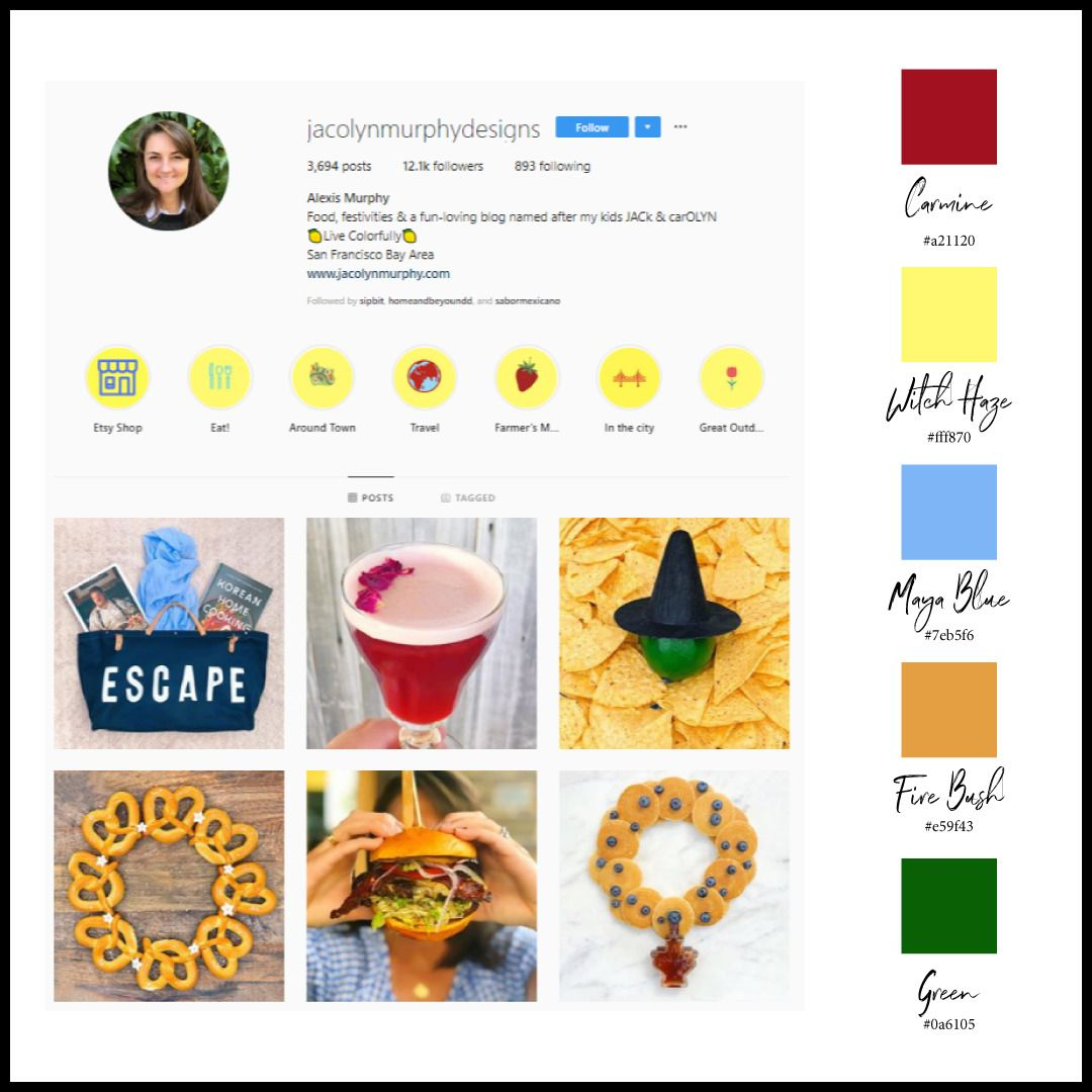 Instagram Color Schemes Bright Red And Contrasting Yellow Color