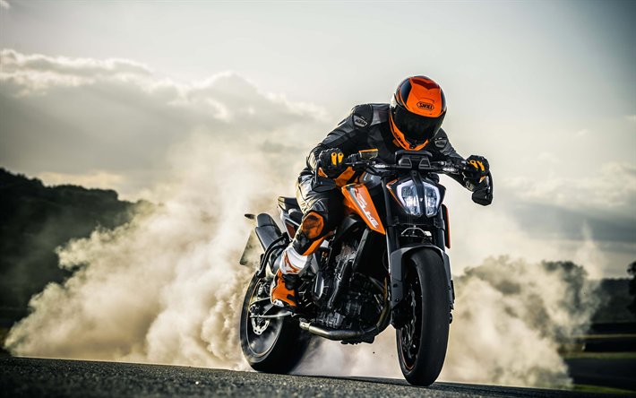 Download Wallpapers 4k Ktm 790 Duke Smoke 2018 Bikes Drift Superbikes Ktm Ktm Motorcycle Wallpaper Bike Drift