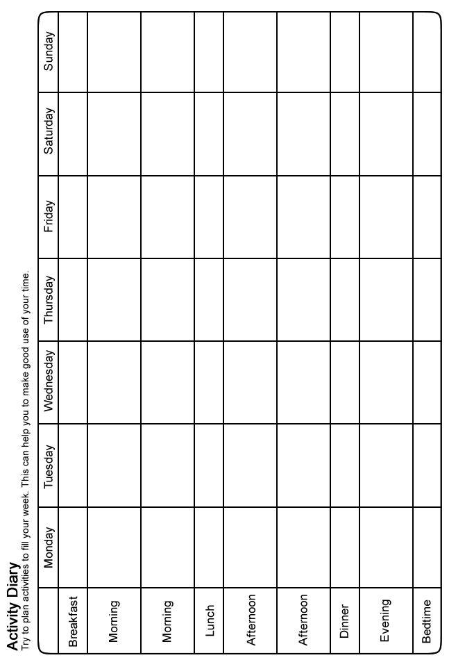MOODJUICE Activity Scheduling Worksheet Selfhelp Guide – Cognitive Behavioral Therapy Worksheets for Depression