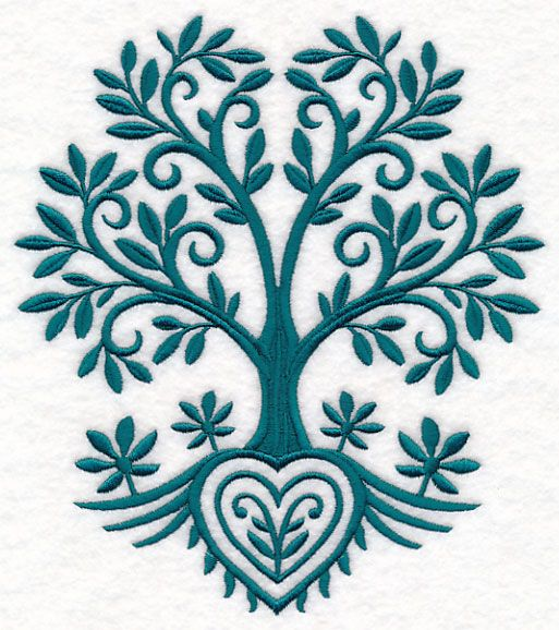 Free embroidery design tree of life