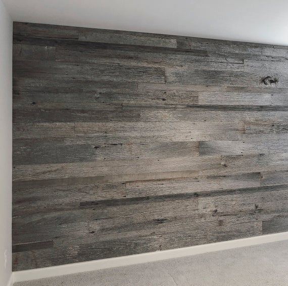 Weathered Gray Barnwood Planks Accent