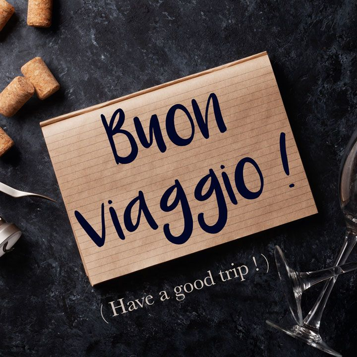 Italian Phrase of the Week: Buon viaggio! (Have a good trip!) Find out more about this phrase and it's pronunciation by visiting the full article! #italian #italiano #italy #italianlessons #italianlanguage