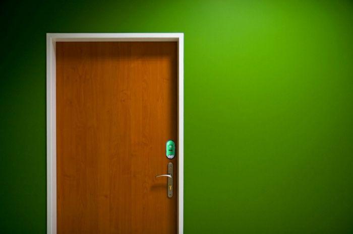 farbgestaltung flur wandgestaltung wanddesign grüne wand Farben - wanddesign