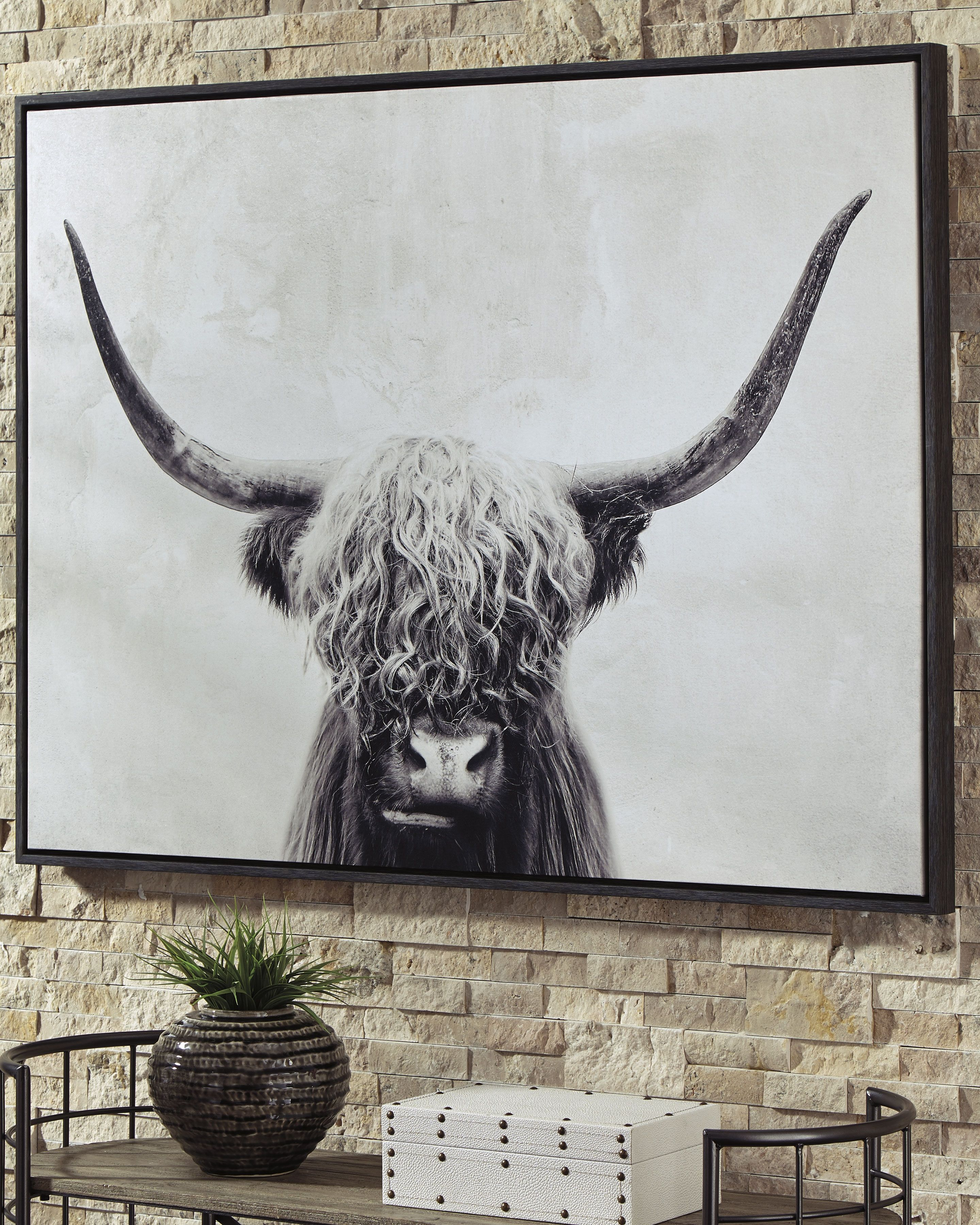 Pancho Wall Art Cow Wall Art Black And White Wall Art White Wall Art