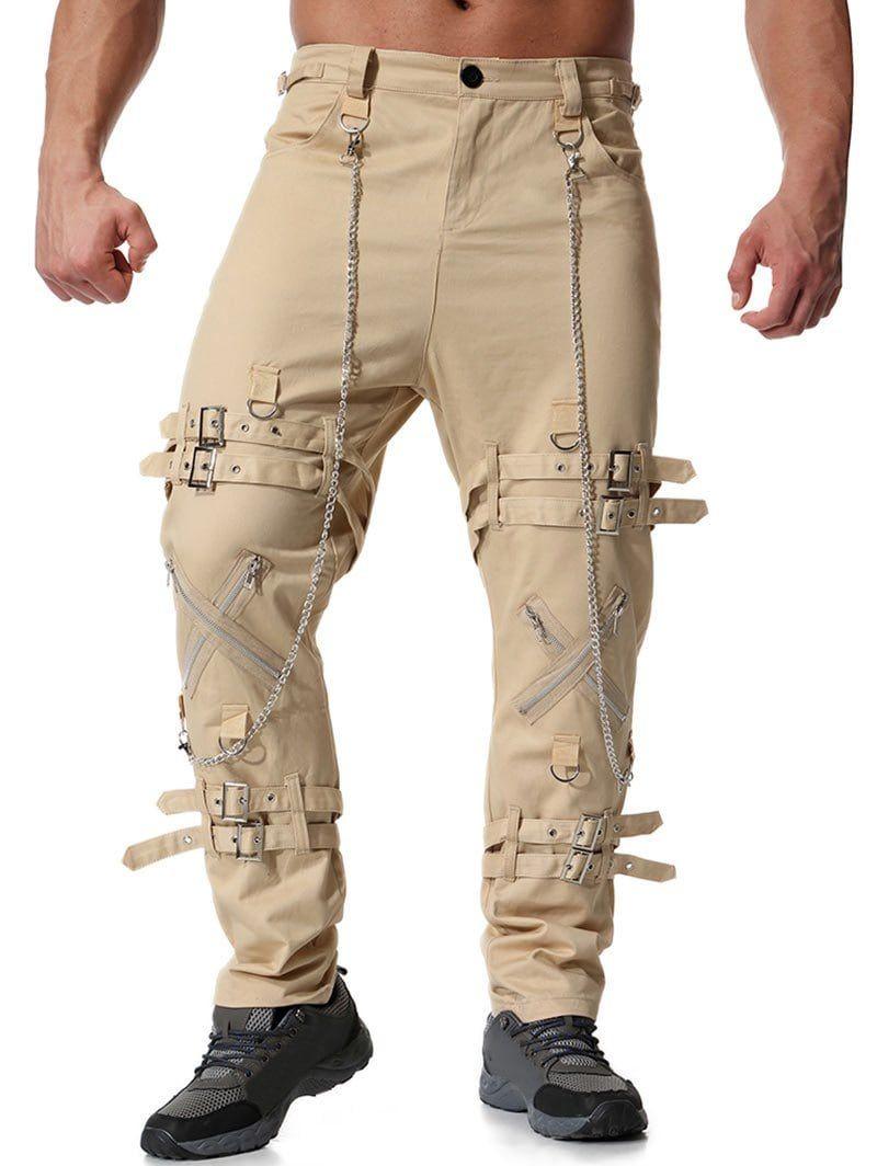 Cromoncent Men/'s Casual Baggy Sport Breathable Harem Long Jogger Pants