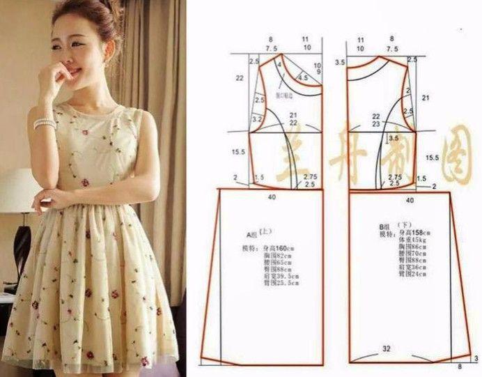 Vestidos de verano y vestidos de verano con patrones simples ... 50 ...