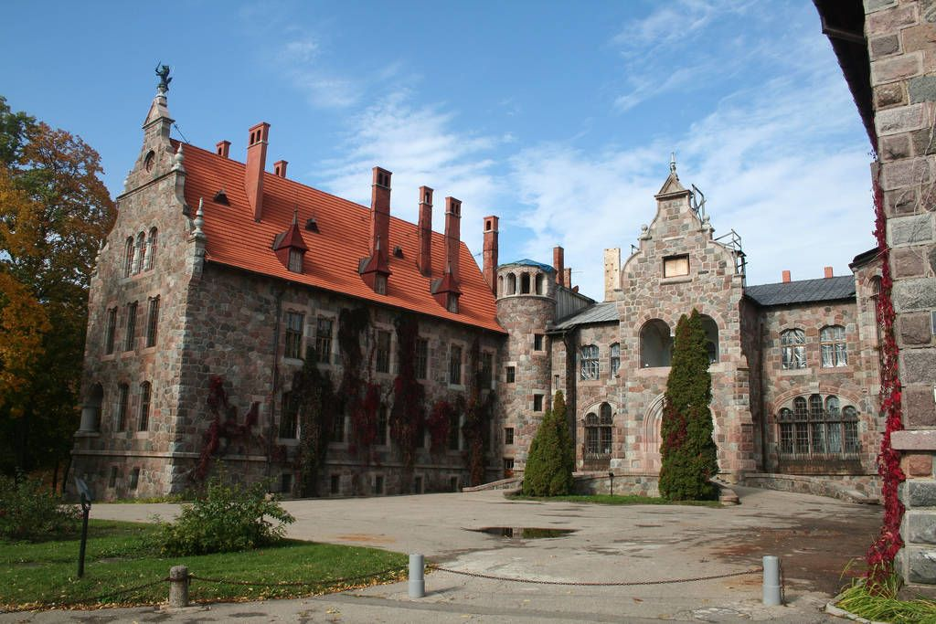 Castle entrance in Germany.
