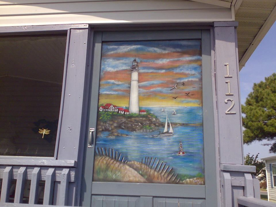 Screen Painting Baltimore With Images Decorative Screen Doors Magnetic Screen Door Screen Painting