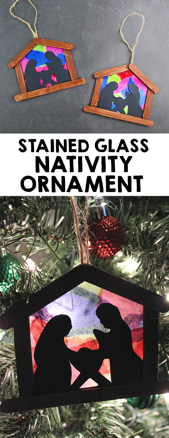 Stained Glass Nativity Ornament Craft For Kids Christmasart These Stained Glass Nativity Ornaments Are Such A Beautiful Craft For The 2020 Yesil Anneler Gunu Deve