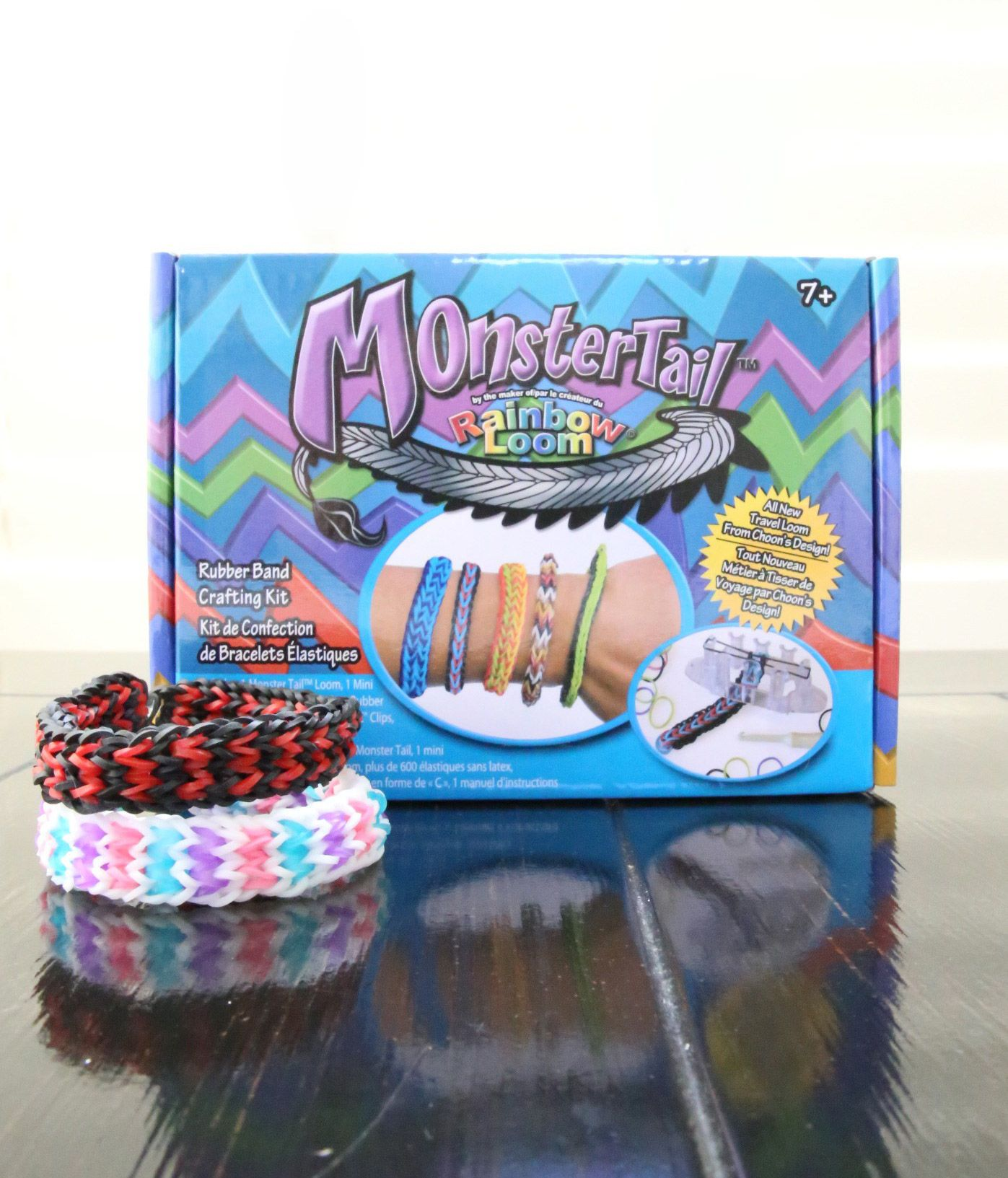 Toys Rubber Band Crafts Rainbow Loom Monster Tail