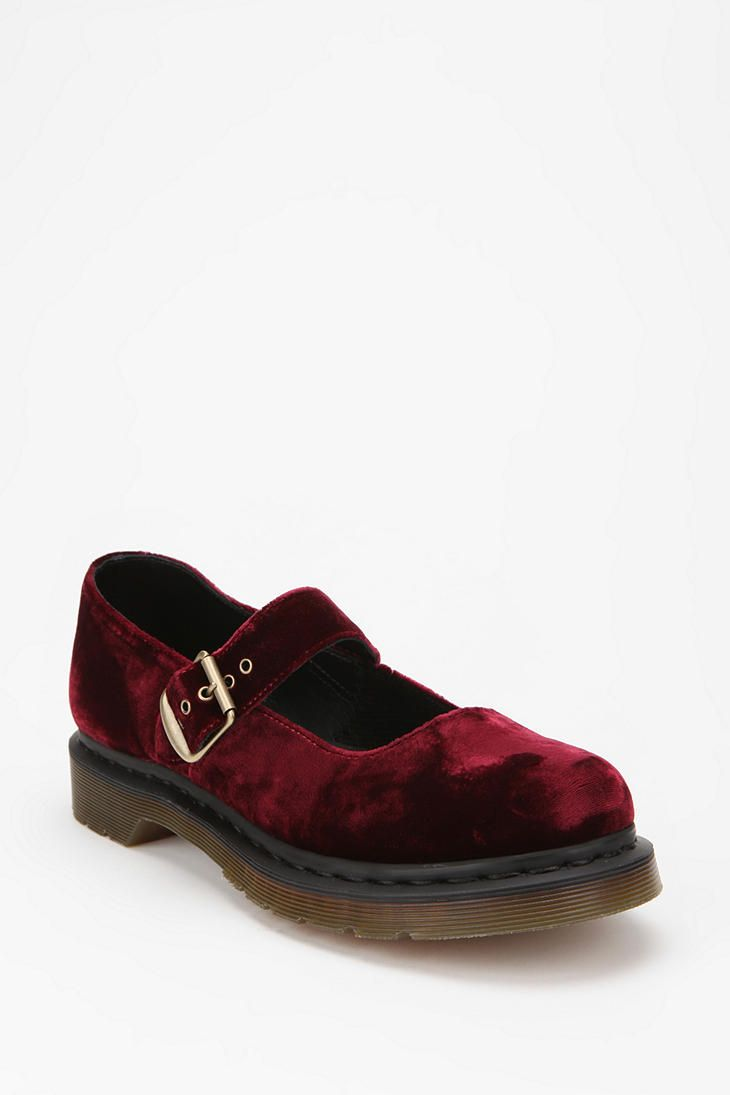 d0d265772ef Doc Martens red velvet Mary Jane  110.00 Doc Martins Shoes