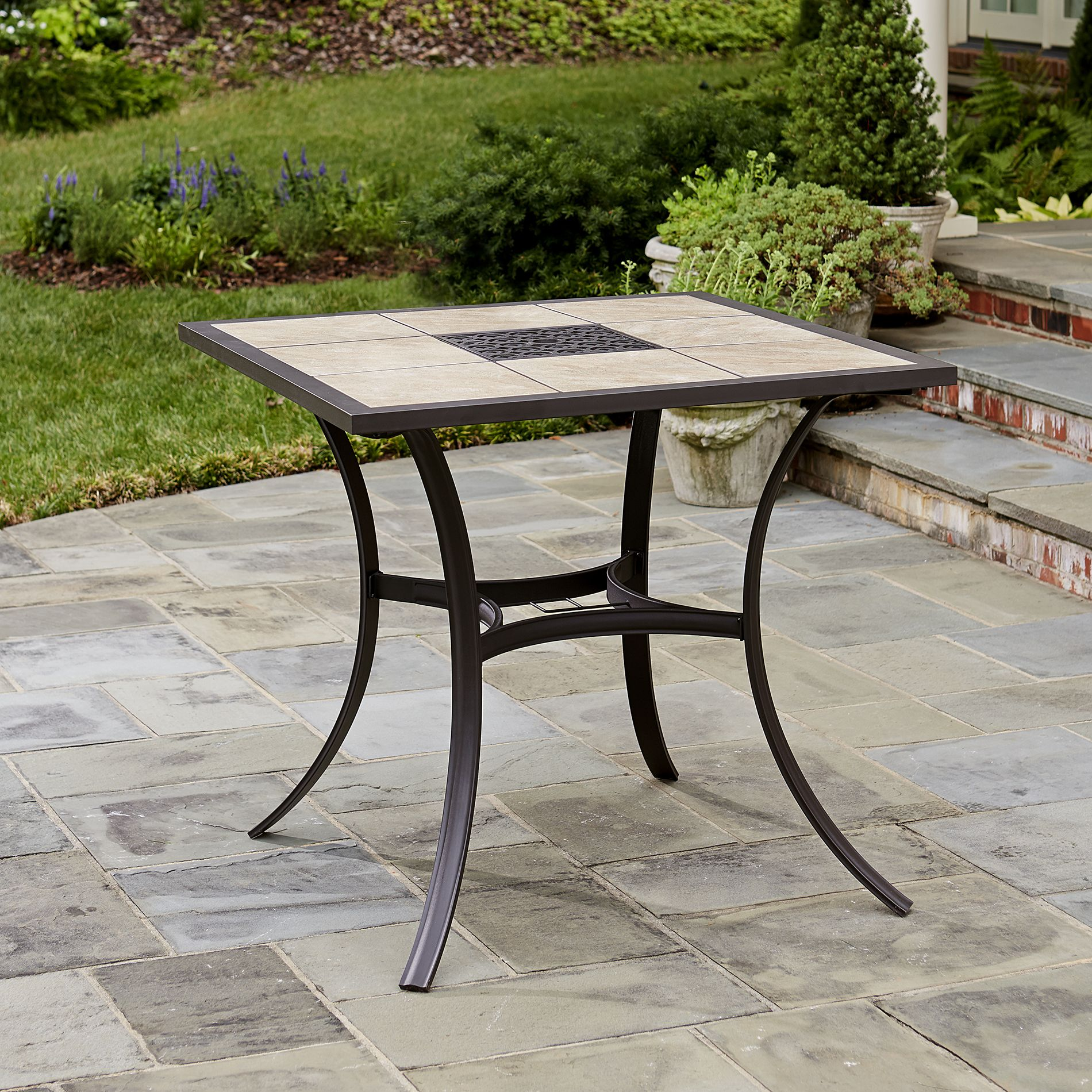 Jaclyn Smith Marion Ceramic High Profile Dining Table Delivers Effortless  Style