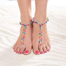 Rainbow Barefoot Sandal