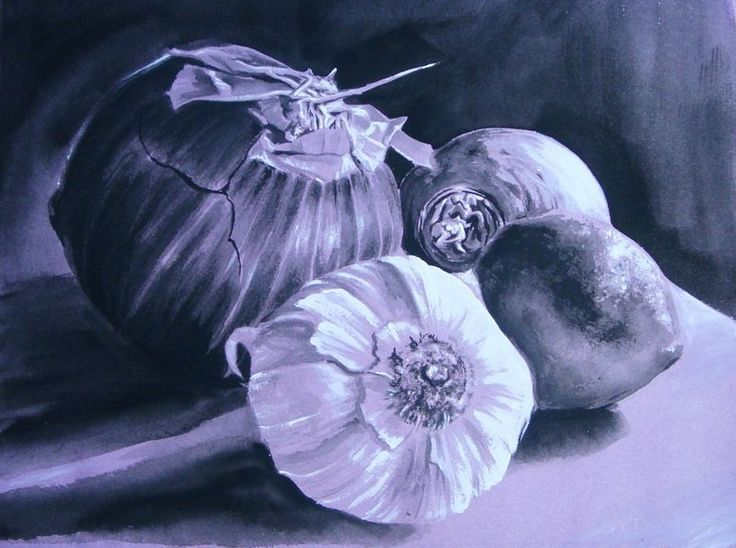 Monochromatic Watercolor Still Life Monochromatic Art Still