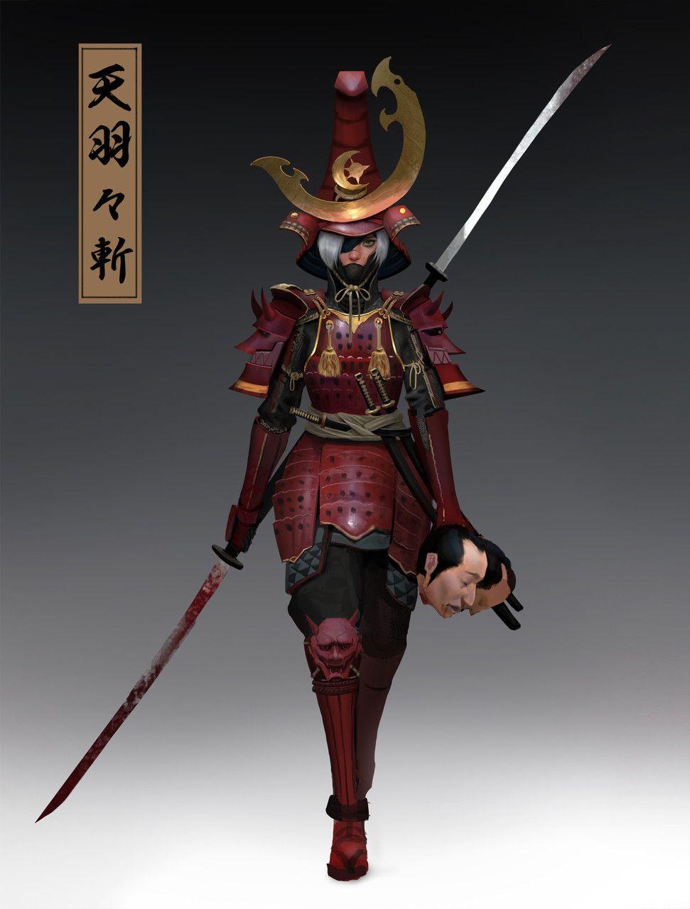 ArtStation - swordsman , Yishu Ci | Fantasy samurai