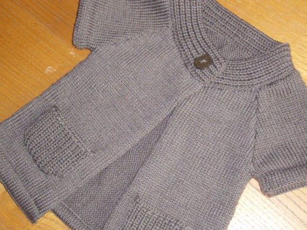 modele tricot veste fillette