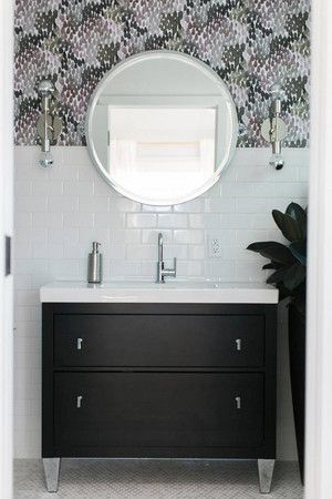 Bathroom Decor: Ideas And Inspiration | Domino. Black Stylish Vanity Unit  For The Bathroom | Bathroom Vanities | Pinterest | Furniture Layout,  Furniture ...