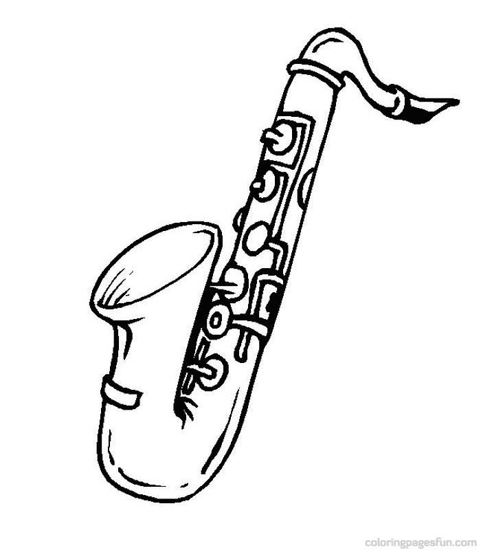 free music instrument coloring pages - photo#33
