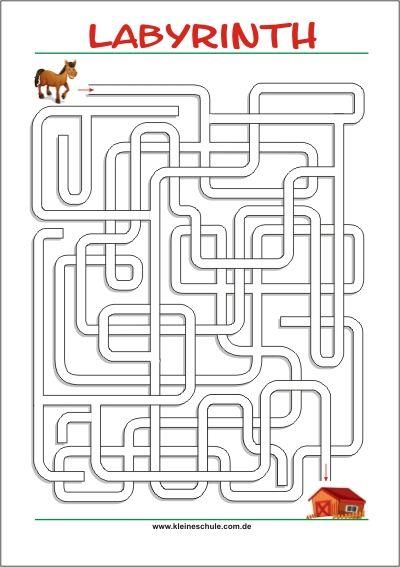 Labyrinth Rätsel   Kostenlose Labyrinth zum Ausdrucken | Kinder