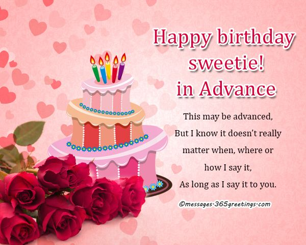 Advance Birthday Wishes, Messages and Greetings | Coloring