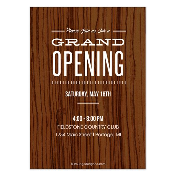 Renee Pulve - Grand Opening - invite and ecard design- we like the - new template letter for visa invitation