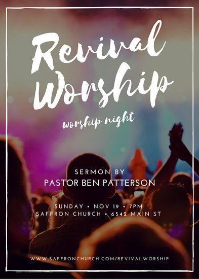 Revival Worship Church Event Flyer Church Pinterest Event - event flyer