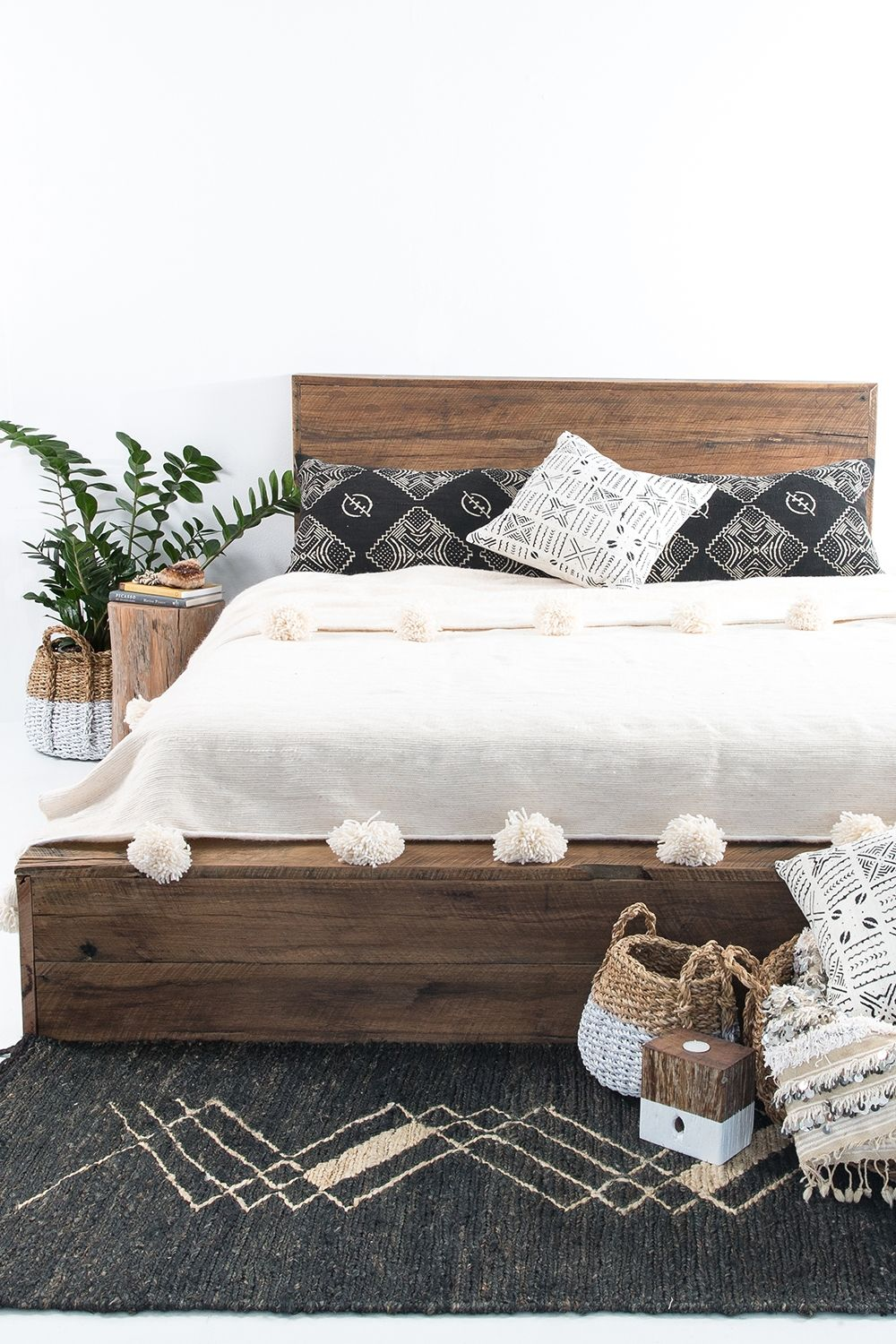 Hardwood Platform Bed Queen Platform Bed Frame Home Decor