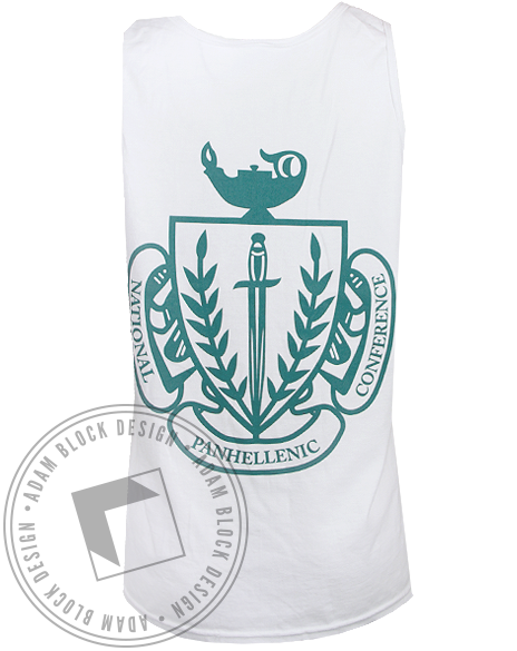 National Panhellenic Conference Go Greek Tank Top by Adam Block Design