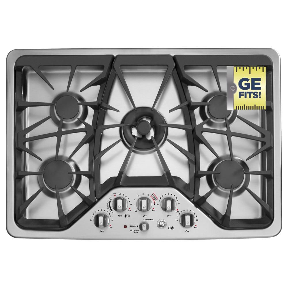 Ge Cafe 30 In Gas Cooktop Stainless