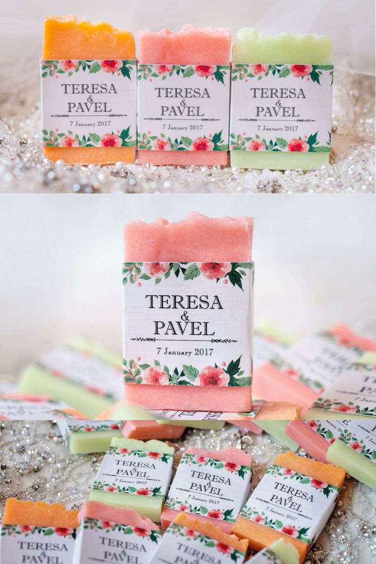 floral wedding. floral wedding favors, soap favors, handmade soap ...
