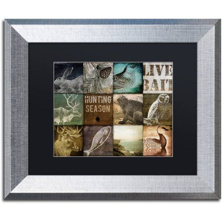 Trademark Fine Art Hunting Season I Canvas Art by Color Bakery Black Matte, Silver Frame, Assorted
