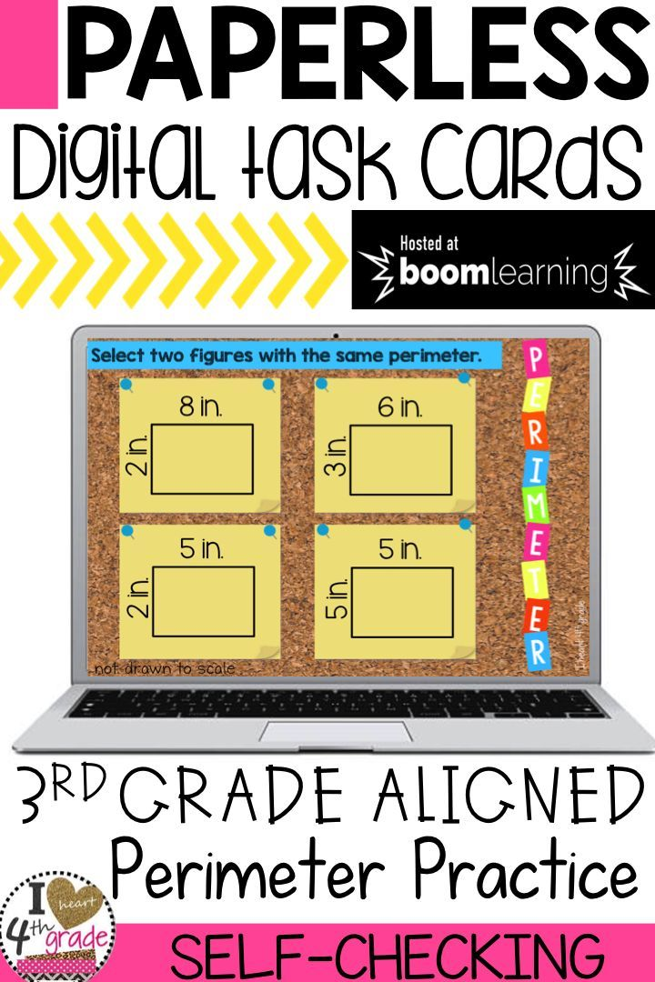 Boom Cards Perimeter | Math, Blended learning and Elementary math