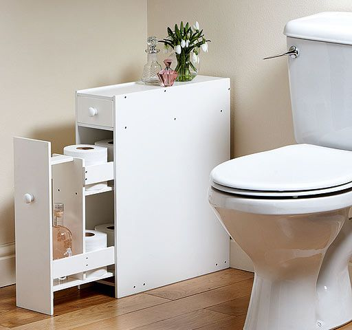 Compact BATHROOM STORAGE CUPBOARD Cabinet Unit Rack White WC Toilet Roll  Holder. Compact BATHROOM STORAGE CUPBOARD Cabinet Unit Rack White WC