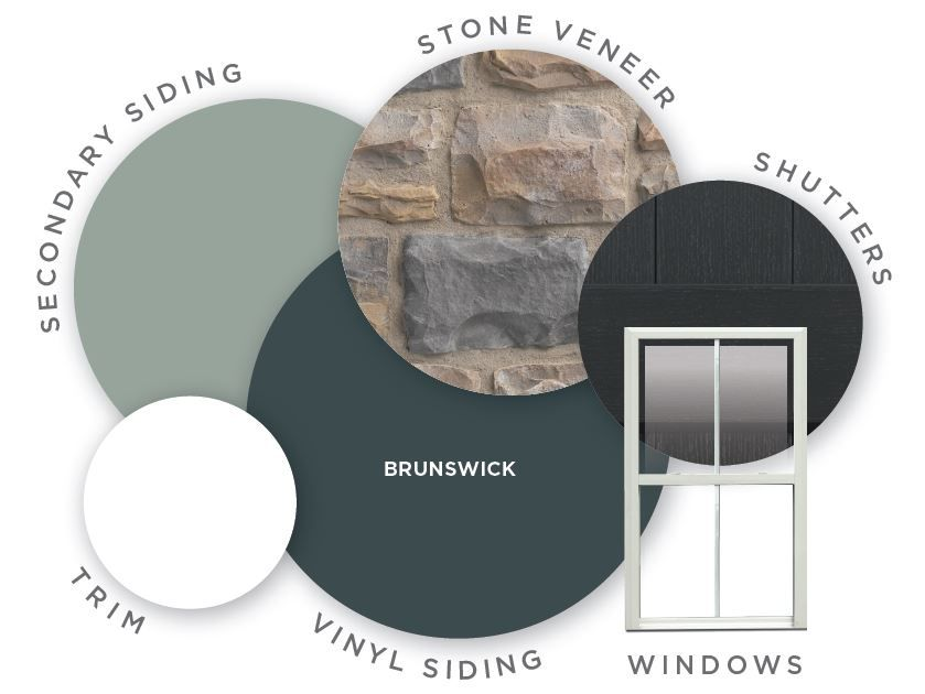 Deep Brunswick Is A Deep Blue Siding Color That Reminds Us