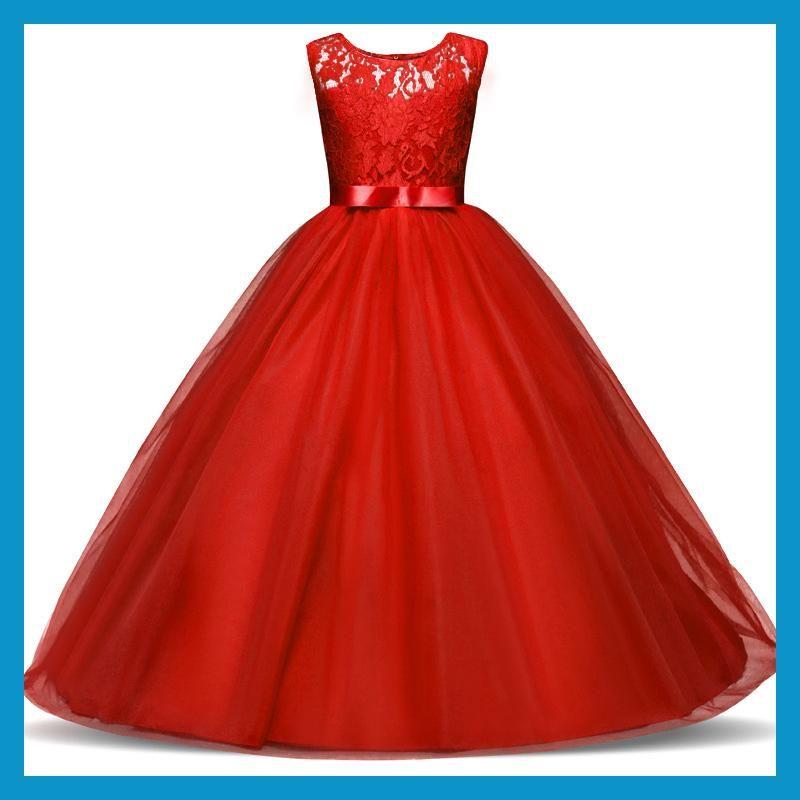 Summer Flower Girl Dress Tulle Wedding Dresses For Teen Girls 6 To 14 Year Old Fluffy