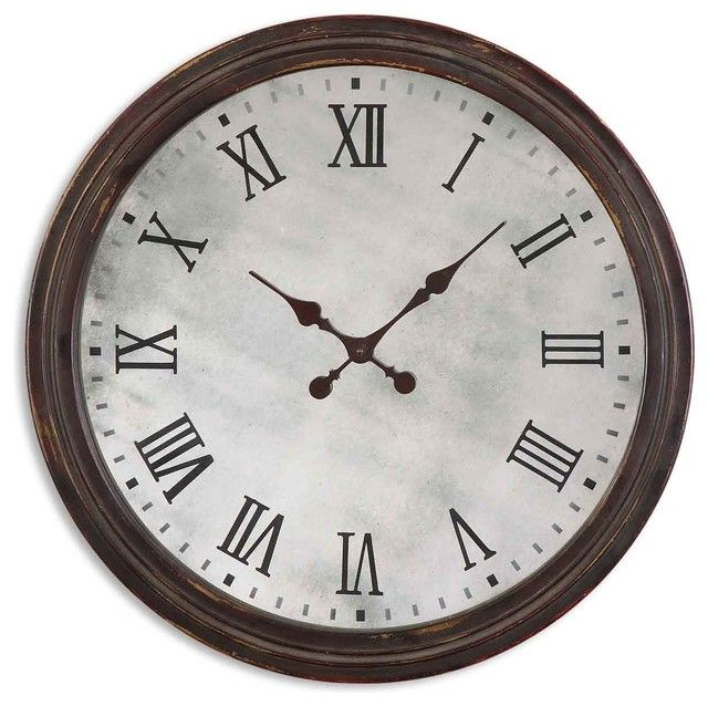 Round Wooden Roman Numeral Wall Clock | Ticking Away | Pinterest ...