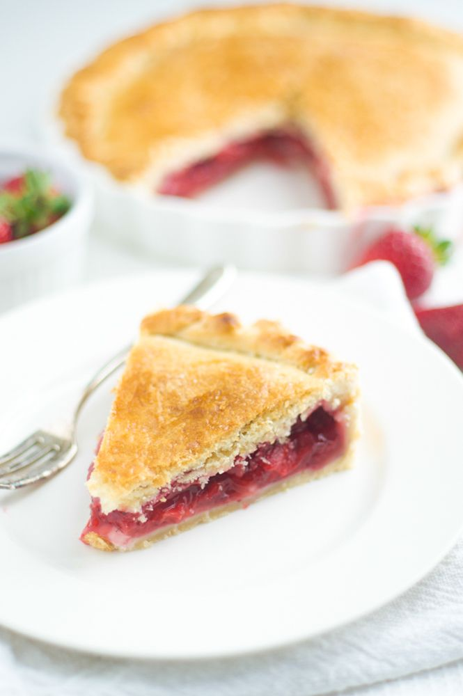 Vegan strawberry pie. #vegan #strawberry