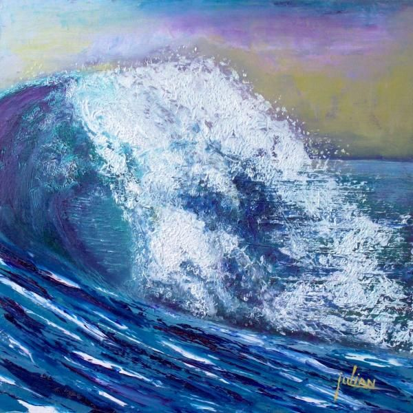 "My SEA painting - ""Wet Crash"""