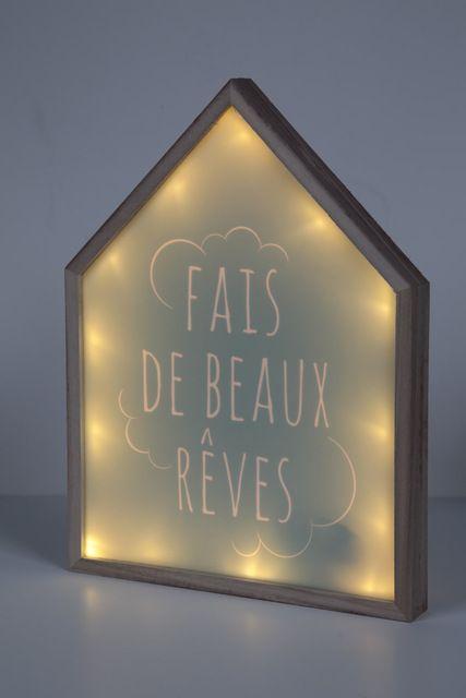 cadre lumineux led 24 p 3 h 32 cm piles pinteres. Black Bedroom Furniture Sets. Home Design Ideas