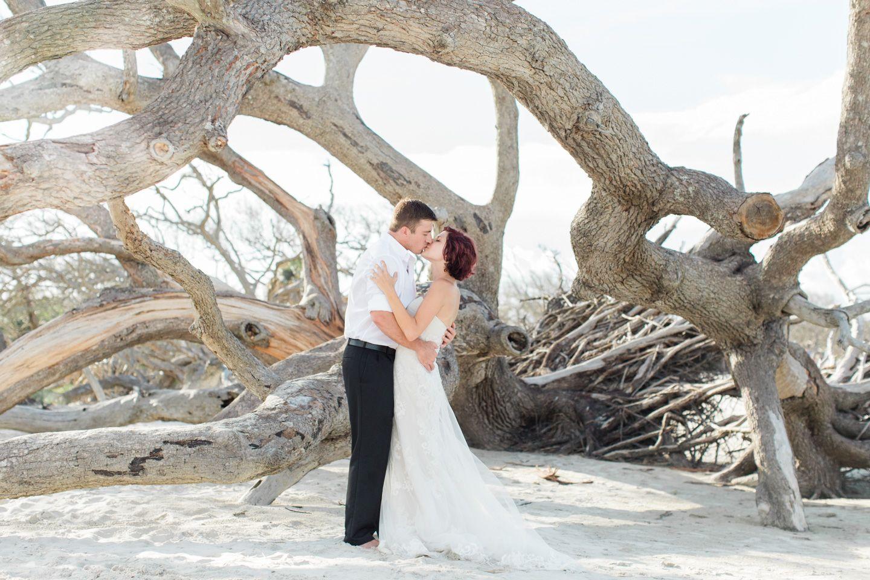Romantic Driftwood Beach Wedding Photos Styled Shoot Beach Wedding Photos Photography Poses